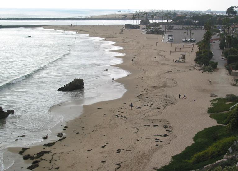 main beach big corona looking north corona del mar cdm newport