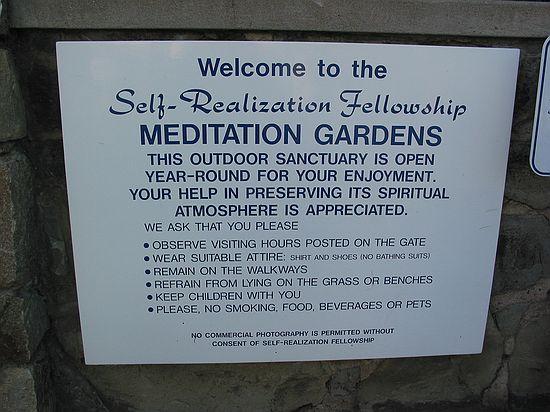 Meditation Gardens Self Realization Fellowship Encinitas California