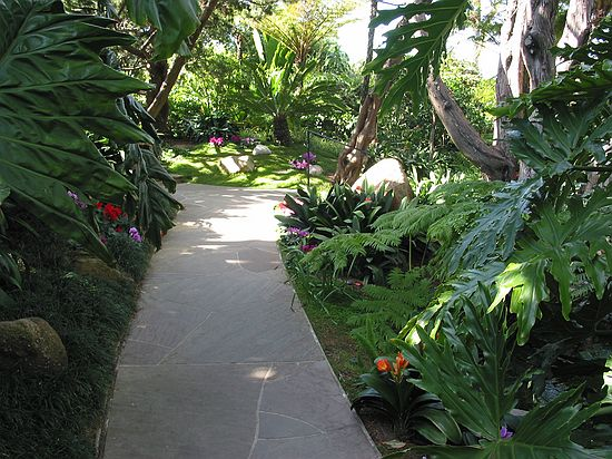 Walkway, immaculately clean - Meditation gardens: Yogananda Self-Realization