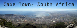 Cape Town, South Africa, from Table Mountain, near Devil's Peak
