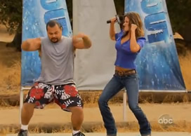 Jill Wagner busts a move on Wipeout
