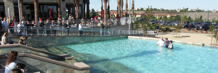 Pool at Mariner's church (in Newport Beach) doubles as a baptistry