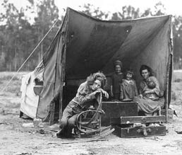 Family of the Great Depression, liberated from a sense of futility