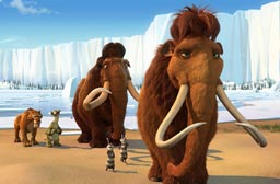 Manny the Mammoth in Ice Age the Meltdown