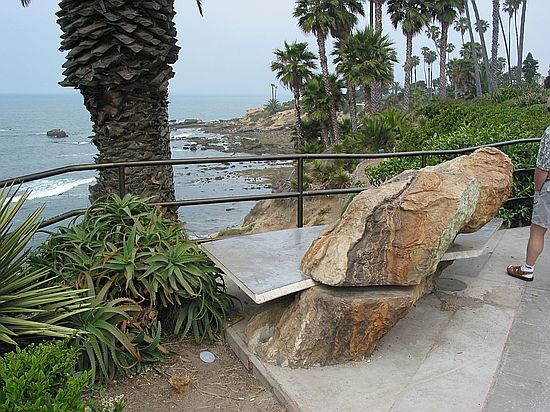 Bench Art Heisler Park Laguna Beach Orange County California