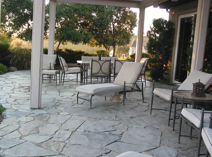 Back Patio, Facing West, San Diego County, California