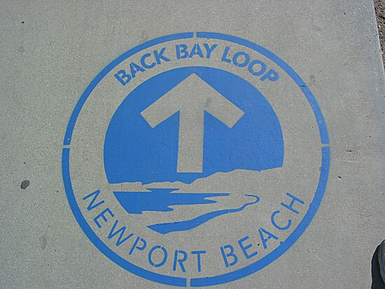 Newport Back Bay Loop Logo Painted Stencil Newport Beach California