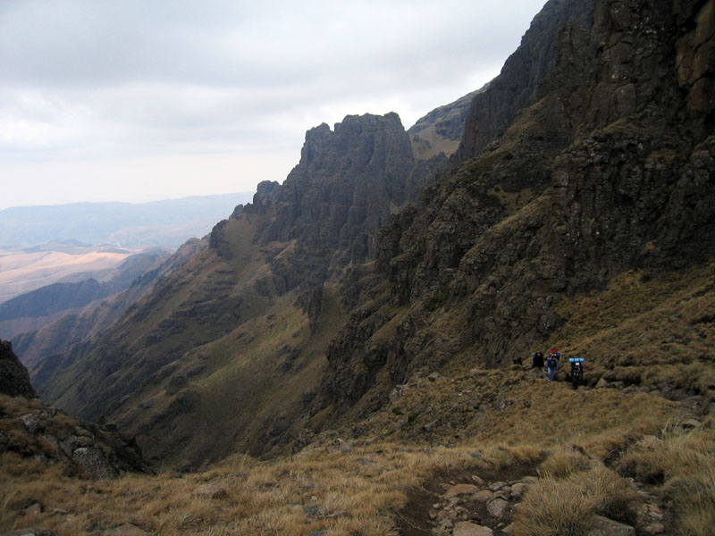 Backpacking in the Mountains of Drakensberg