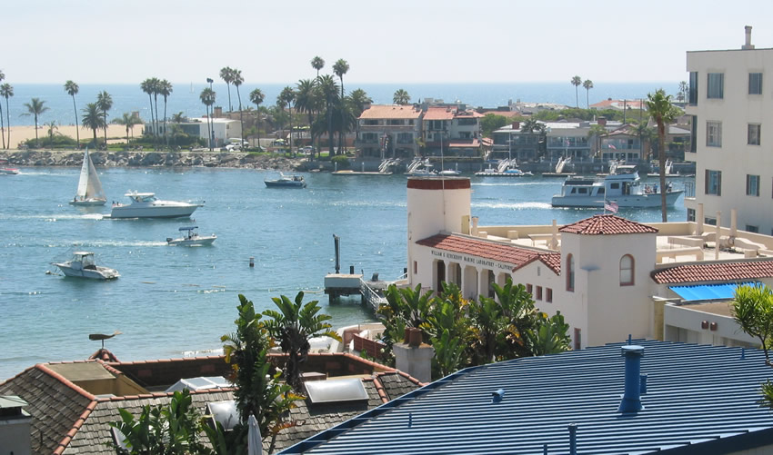 Entrance Channel To Newport Harbor As Viewed From Corona Del Mar Beach