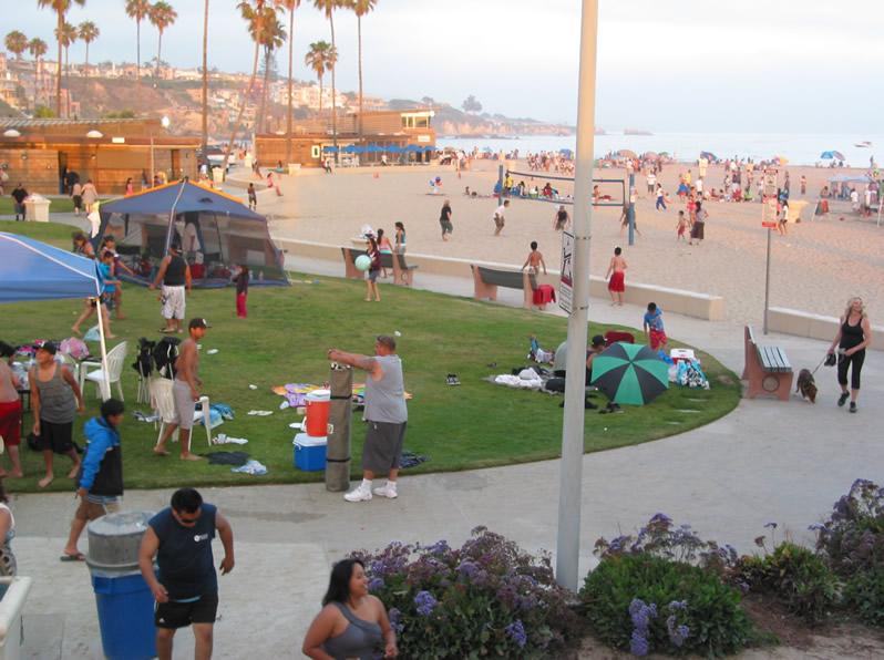 People Watching At The Beach Corona In Del Mar Newport California
